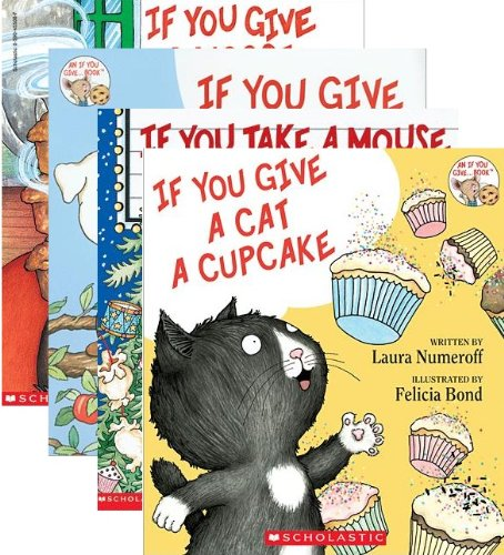 If You Give A Dog A Donut 4 Book Set: Includes If You Give a Dog a Donut / If You Give a Cat a Cupcake / If You Give a Moose a Muffin / If You Take a Mouse to the Movies (If You Give ... Books) by Laura Joffe Numeroff (2013-01-01)