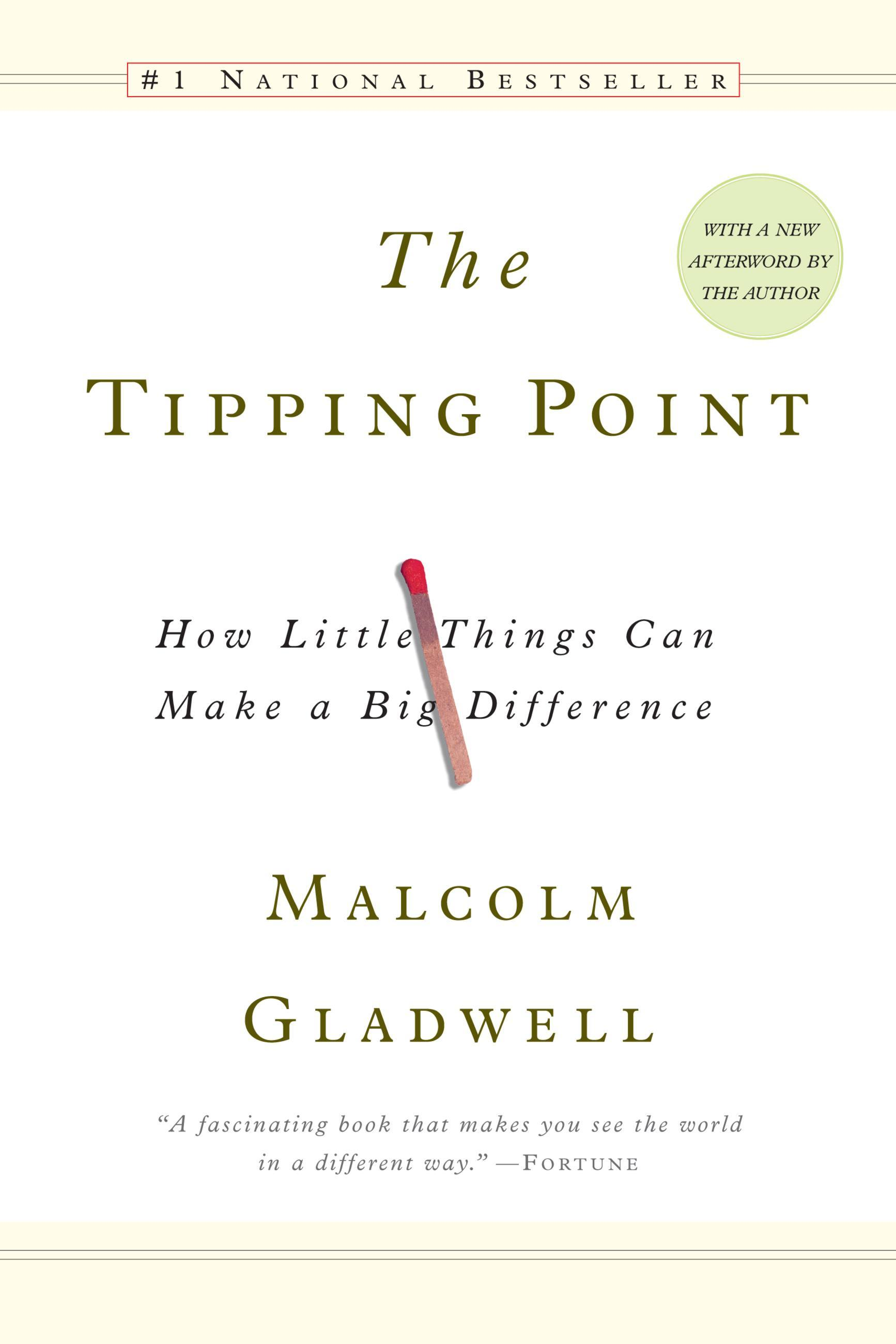"""the tipping point book report At the beginning of the year we were asked to read """"the tipping point"""" by malcolm gladwell, and."""
