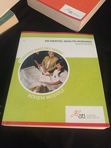RN Mental Health Nursing Edition 9. 0 by Assessment Technologies Institute Nursing, ISBN: 9781565335455