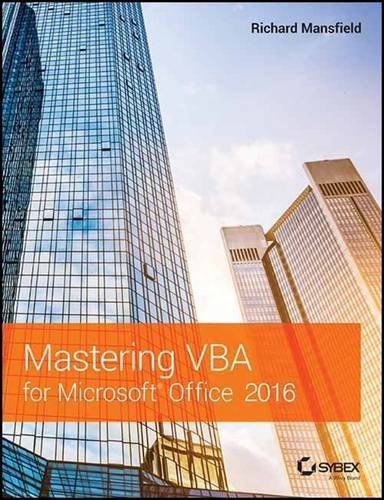 Mastering Vba For Microsoft Office 2016 by Richard Mansfield, ISBN: 9788126561940
