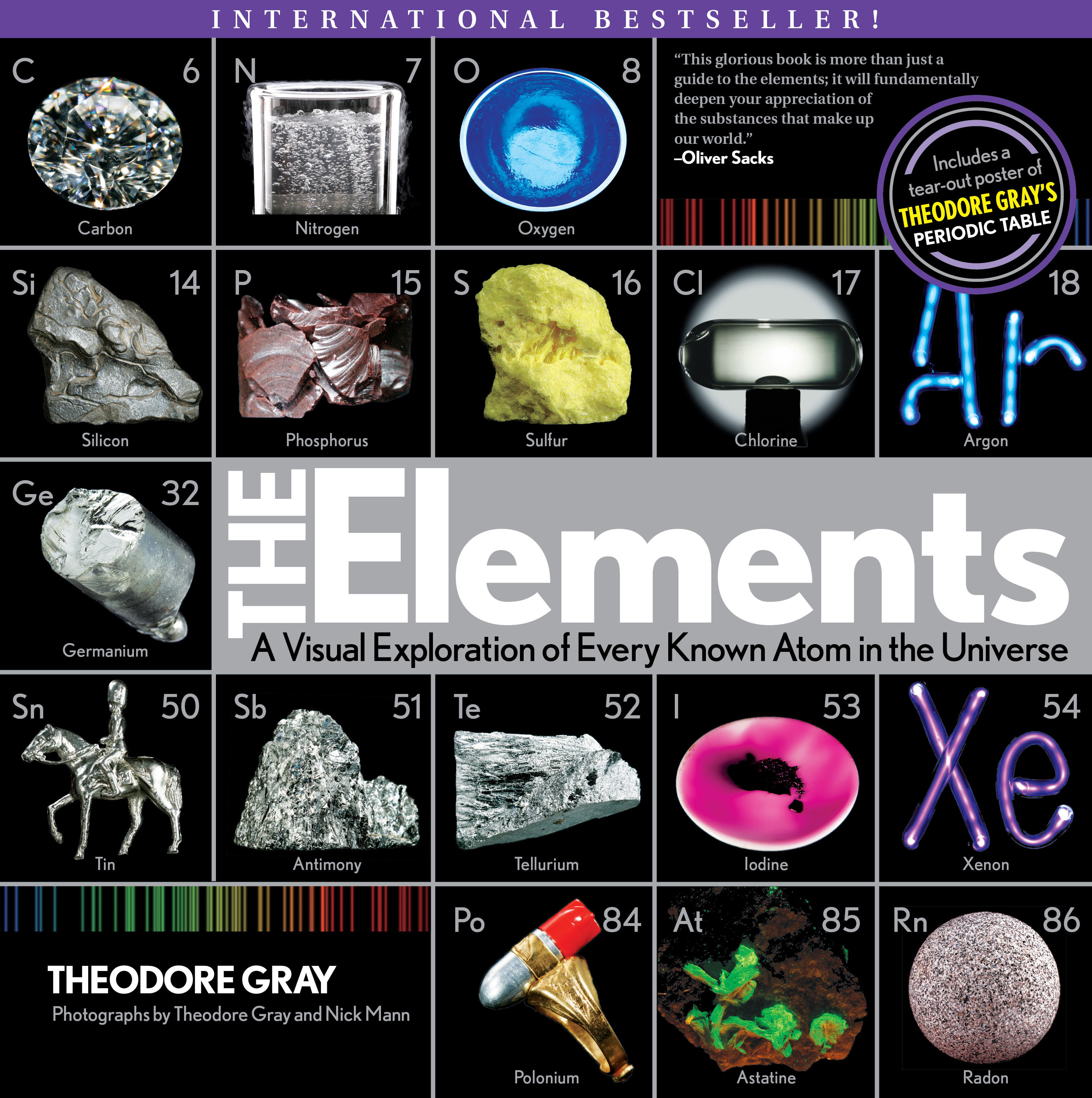 The Elements: A Visual Exploration of Every Known Atom in the Universe by Theodore Gray, ISBN: 9781579128951