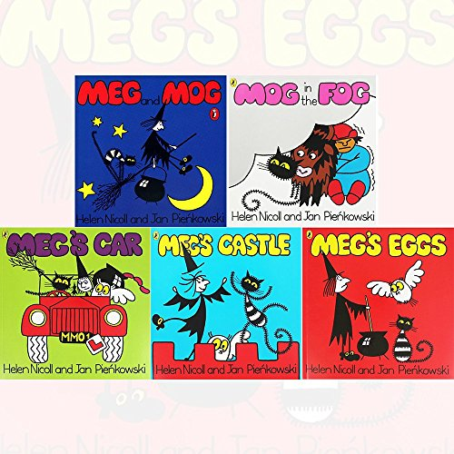 Meg and Mog Collection 5 Books Bundle (Owl at School (Picture Puffin), Mog in the Fog, Meg's Car, Meg up the Creek, Mog at the Zoo)
