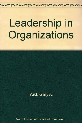 federated industries case gary yukl Instructor's manual leadership in organizations 8th edition gary yukl state university of albany at new york preface this manual is designed to facilitate learning and assessment of leadership theories, concepts, research findings, and practices in the seventh edition of leadership in organizations.