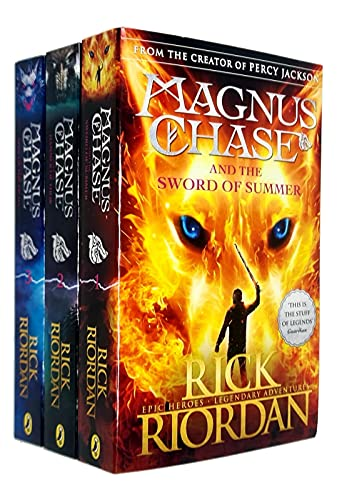 Rick riordan magnus chase collection 3 books set (magnus chase and the hammer of thor, sword of summer, ship of the dead [hardcover])