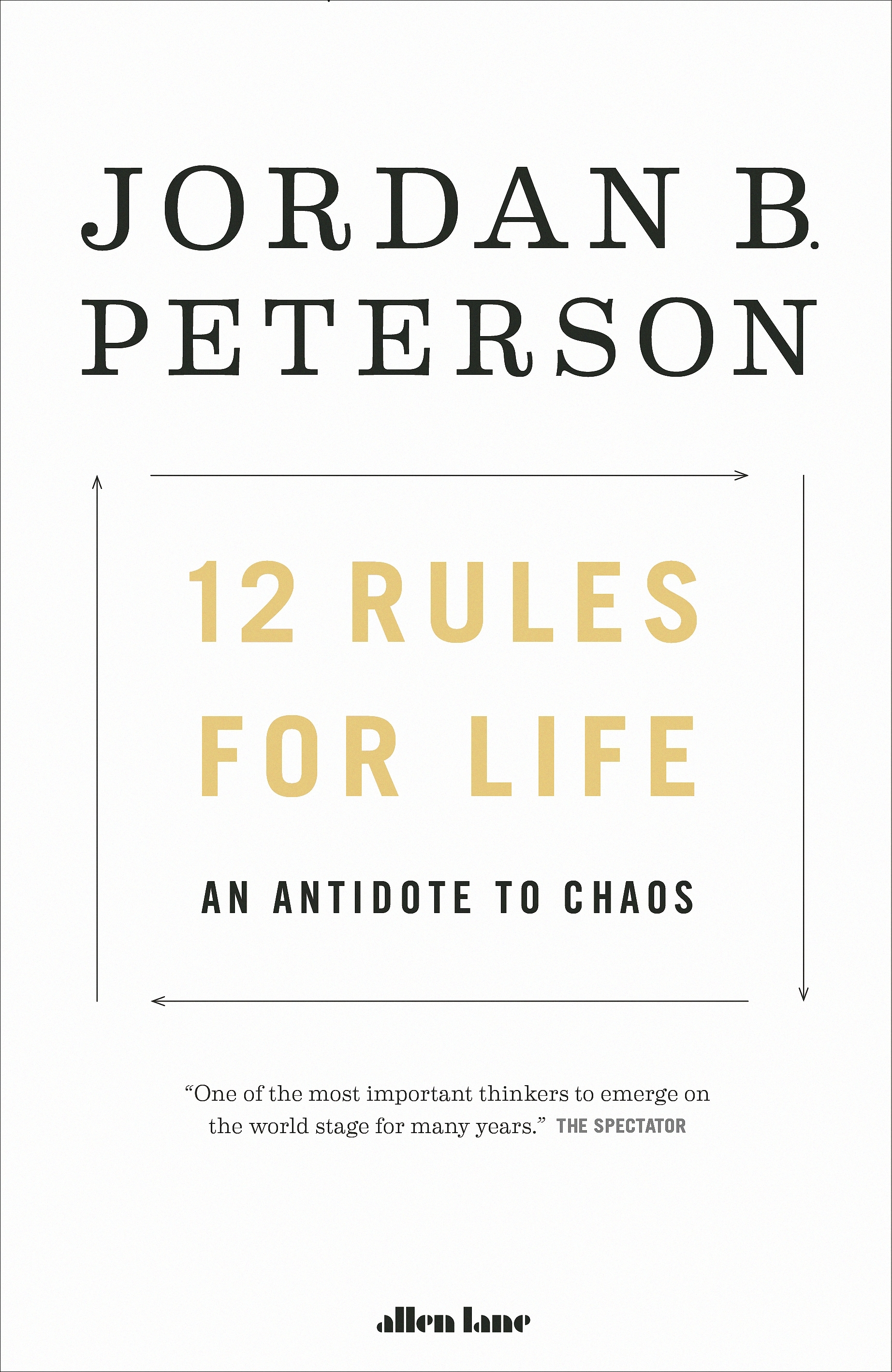 12 Rules for Life by Jordan B. Peterson, ISBN: 9780241351642