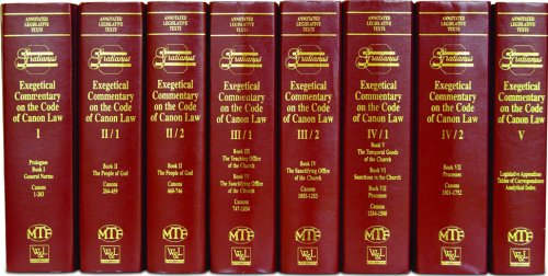 Exegetical Commentary on the Code of Canon Law (8 Volume Set)